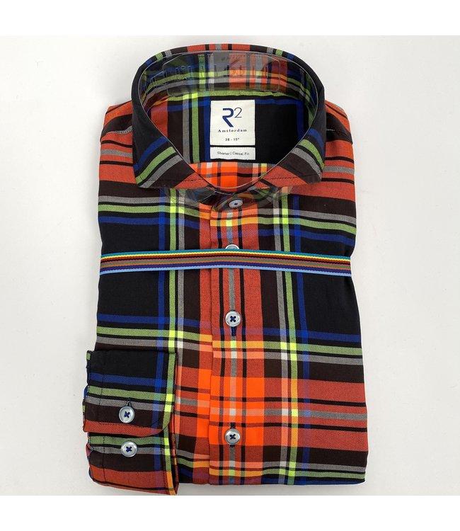 R2 Widespread Twill Shirt Multicolour