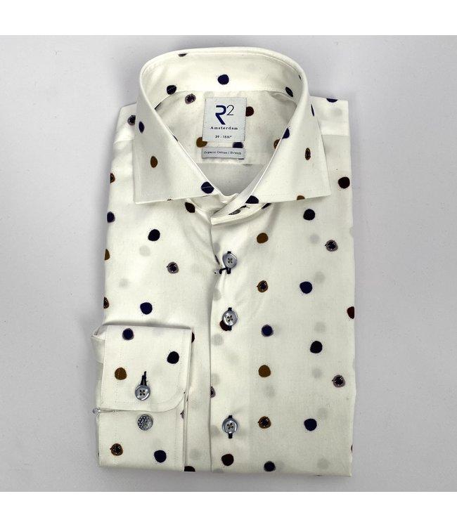 R2 Widespread Fine Twill Shirt White