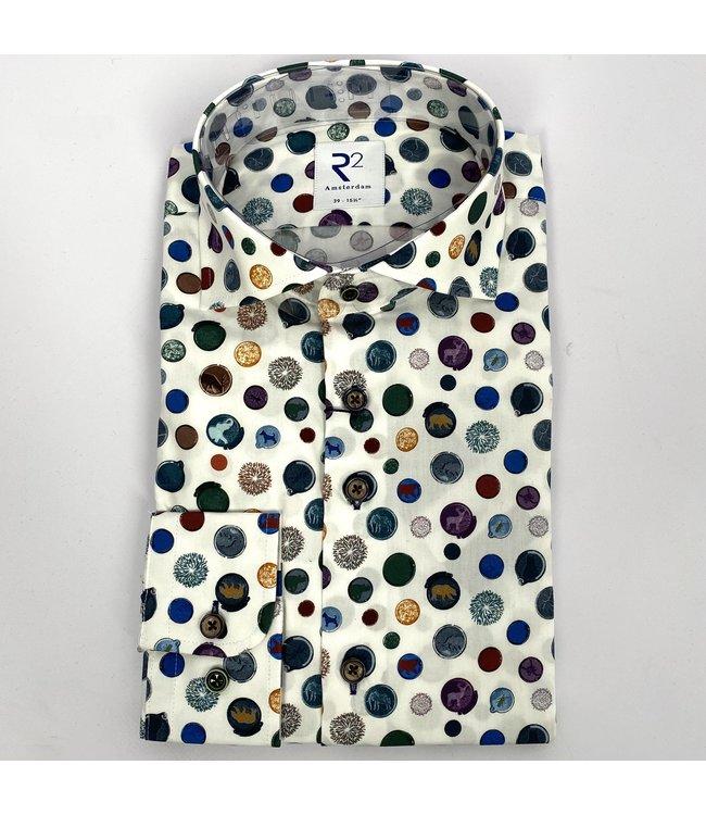 R2 Widespread Poplin Shirt Multicolour 73