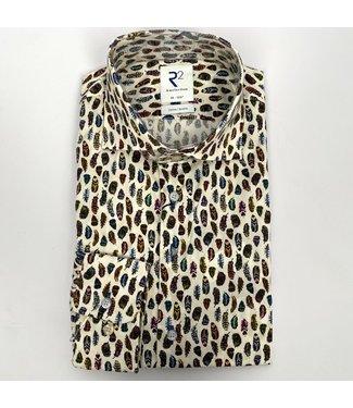 R2 Widespread Poplin Shirt Multicolour