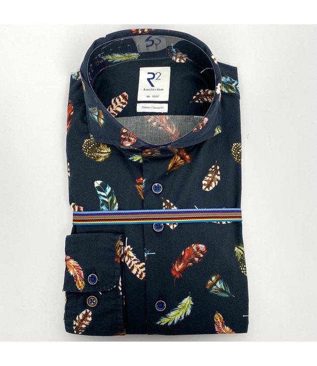 R2 Widespread Poplin Shirt Navy 10