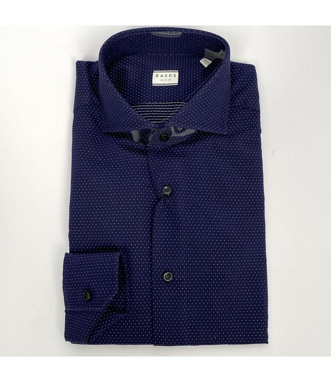 Xacus Tailor Fit New Business Shirt Bl