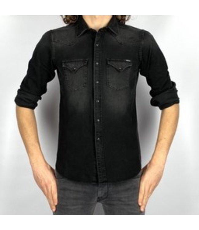 Replay Hyperflex Denim Slim Fit Shirt Black