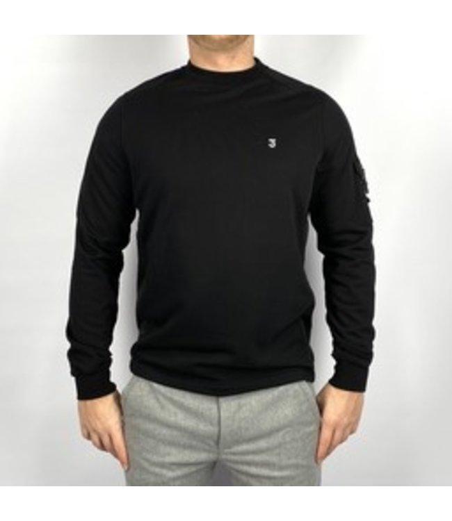 Koll3kt Buckle pkt Crew Sweater Black