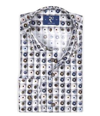 R2 Widespread Grey Flower Shirt