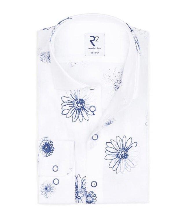 R2 Widespread White Flower Shirt