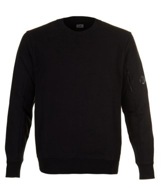 C.P. Company Diagonal Raised Fleece Black