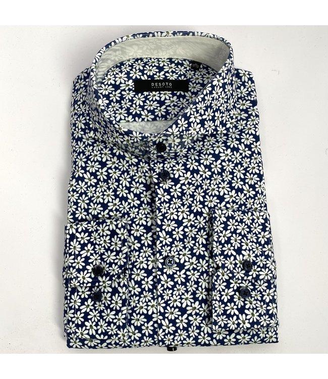 Desoto Luxury Hai 664 Blue with Flowers
