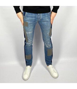 Barbone 5 Pocket Man Patch Blu