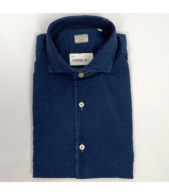 Xacus Xacus Tailor Fit Indigo Shirt