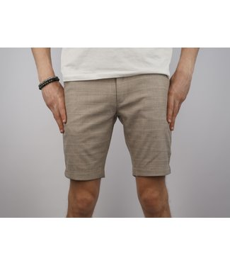 Gabba Gabba Jason Tar Beige Check Chino Shorts