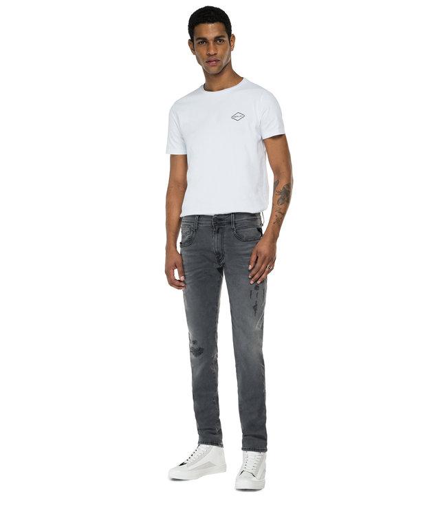 Replay Replay Slim Fit Anbass Hyperflex X.L.I.T.E. Re-Used Jeans XB25