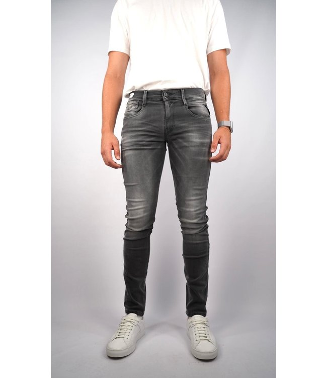 Replay Replay Slim Fit White Shades Anbass Jeans WB1