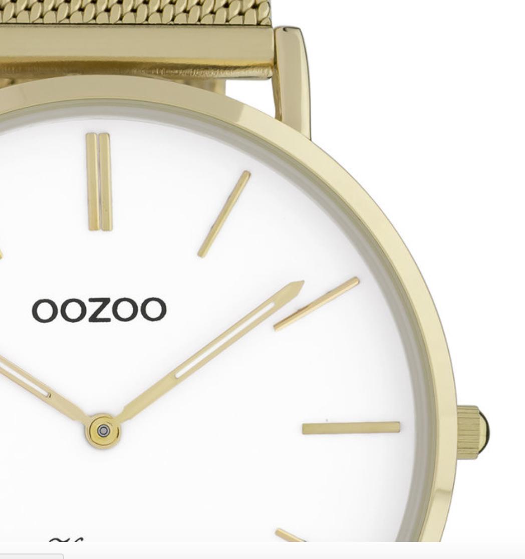OOZOO OOZOO - Horloge met stalen kast C9908 goud