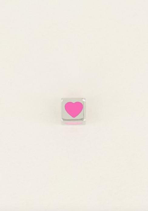 MY JEWELLERY MY JEWELLERY - Cubes bedel hartje zilver