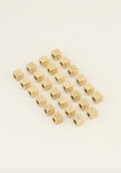 MY JEWELLERY MY JEWELLERY - Cubes bedel Initiaal A t/m Z Goud
