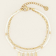 MY JEWELLERY MY JEWELLERY - Armband kralen & veertjes goud