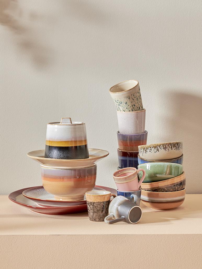 HK LIVING HK LIVING - Ceramic 70's bowl medium Lava ACE6886