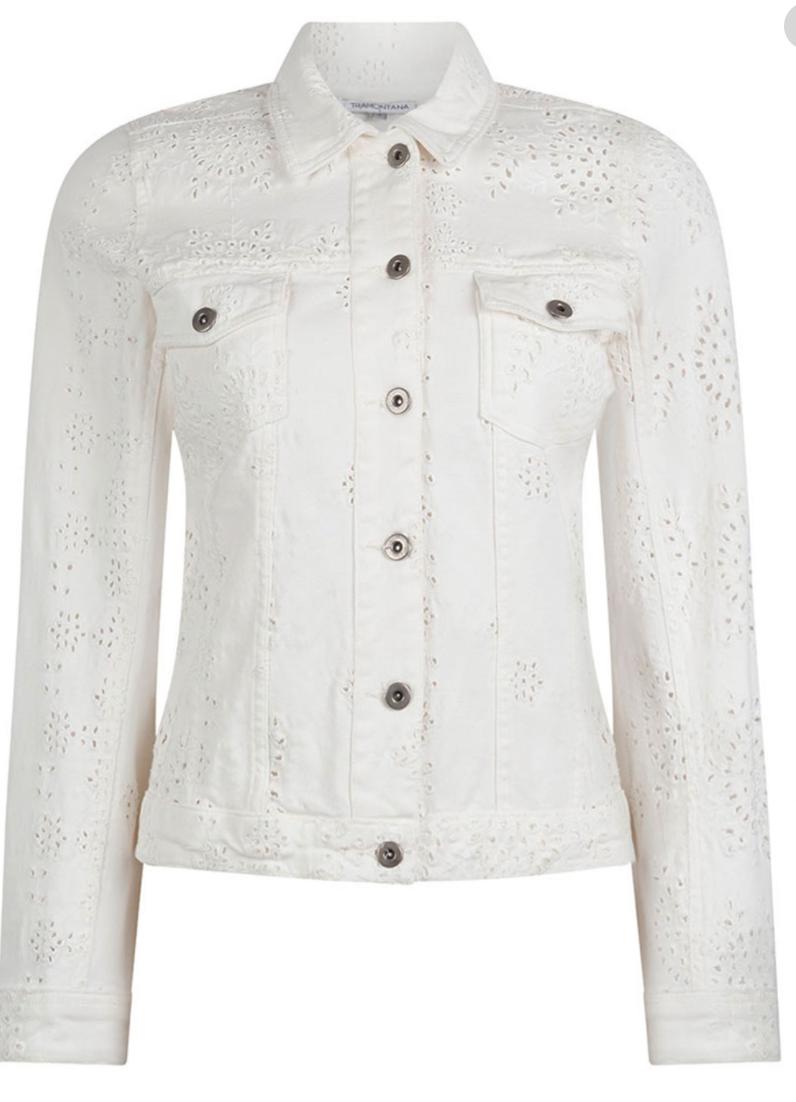 TRAMONTANA Jacket Embroidery Anglaise white