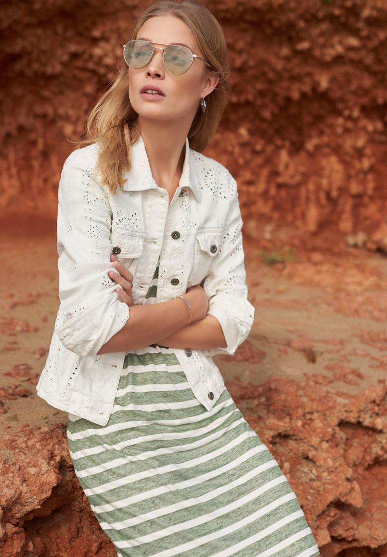 TRAMONTANA TRAMONTANA Jacket Embroidery Anglaise white