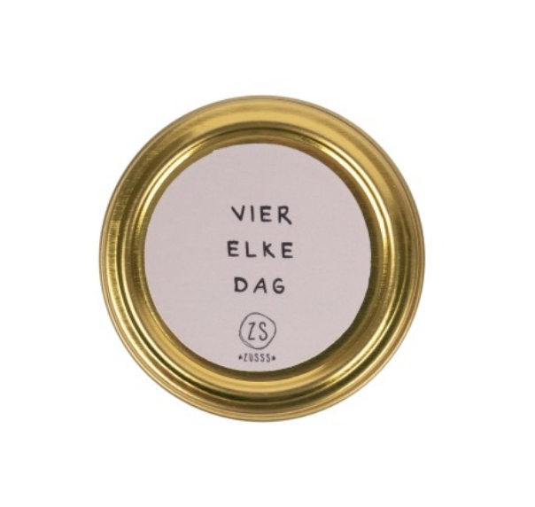 ZUSSS ZUSSS - Wenskaarsje vier elke dag, spikkels