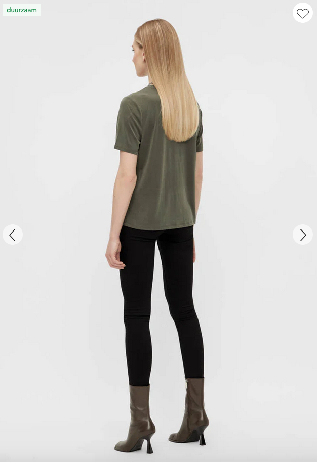OBJECT OBJECT - T-shirt ANNIE forest night / groen