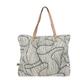 ZUSSS ZUSSS - Hippe schoudertas koraal print creme