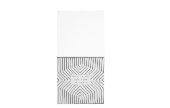 ZUSSS ZUSSS - 100 complimentenkaartjes op klembordje