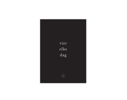 ZUSSS ZUSSS - Kaart vier elke dag zwart