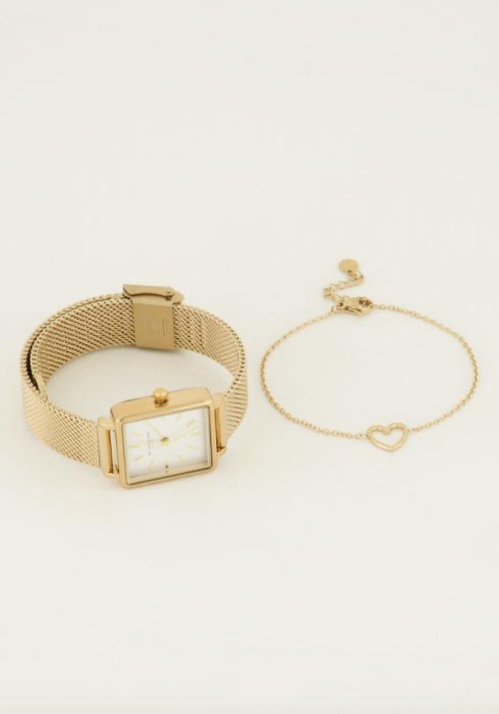 MY JEWELLERY MY JEWELLERY - Giftbox horloge & hartjes armbandje