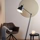 LIGHT & LIVING VLOERLAMP - Ø30x120-188 cm WESLY zwart