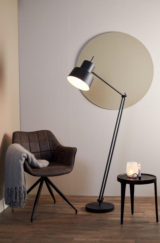 LIGHT & LIVING Vloerlamp Ø30x120-188 cm WESLY zwart