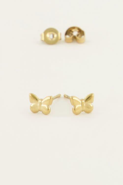 MY JEWELLERY MY JEWELLERY - Vlinder studs zilver of goud
