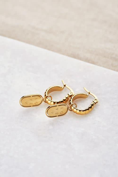 MY JEWELLERY MY JEWELLERY - Oorringen munt love zilver of goud