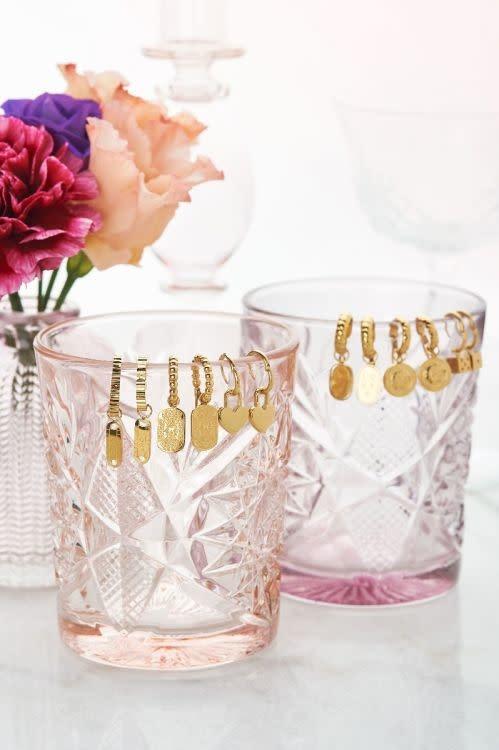 MY JEWELLERY MY JEWELLERY - Oorringen bolletjes met plaatje zilver of goud