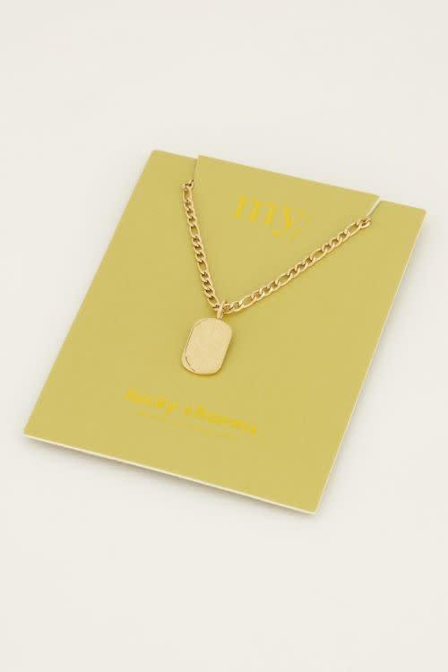 MY JEWELLERY MY JEWELLERY - Schakelketting met plaatje zilver of goud