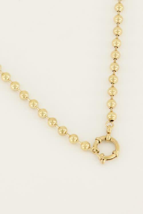 MY JEWELLERY MY JEWELLERY - Ketting bolletjes met ronde sluiting zilver of goud