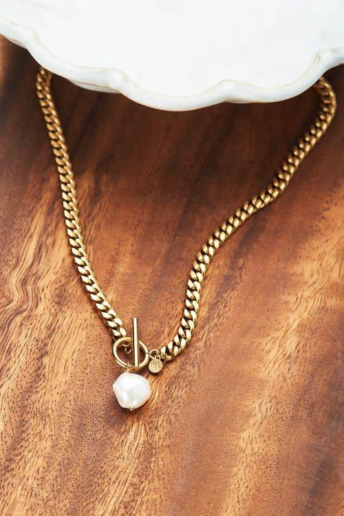 MY JEWELLERY MY JEWELLERY - Schakelketting met parel zilver of goud