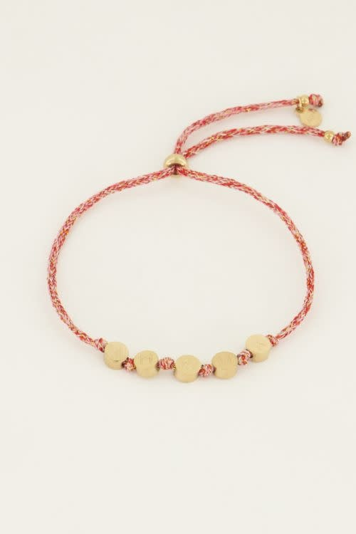 MY JEWELLERY MY JEWELLERY - Touw armband amour zilver of goud