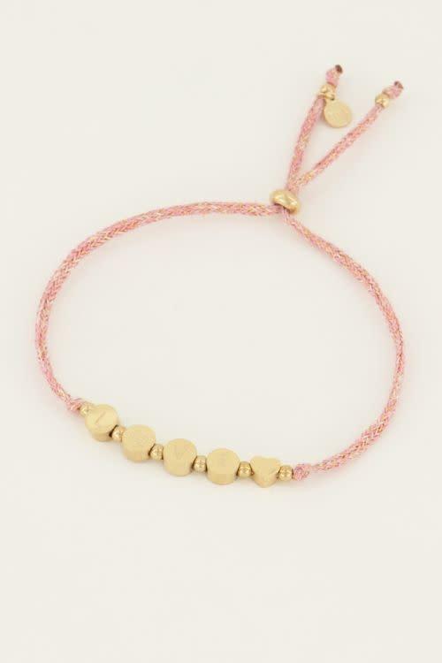 MY JEWELLERY MY JEWELLERY - Touw armband love zilver of goud