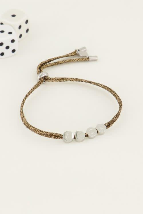 MY JEWELLERY MY JEWELLERY - Touw armband luck zilver of goud