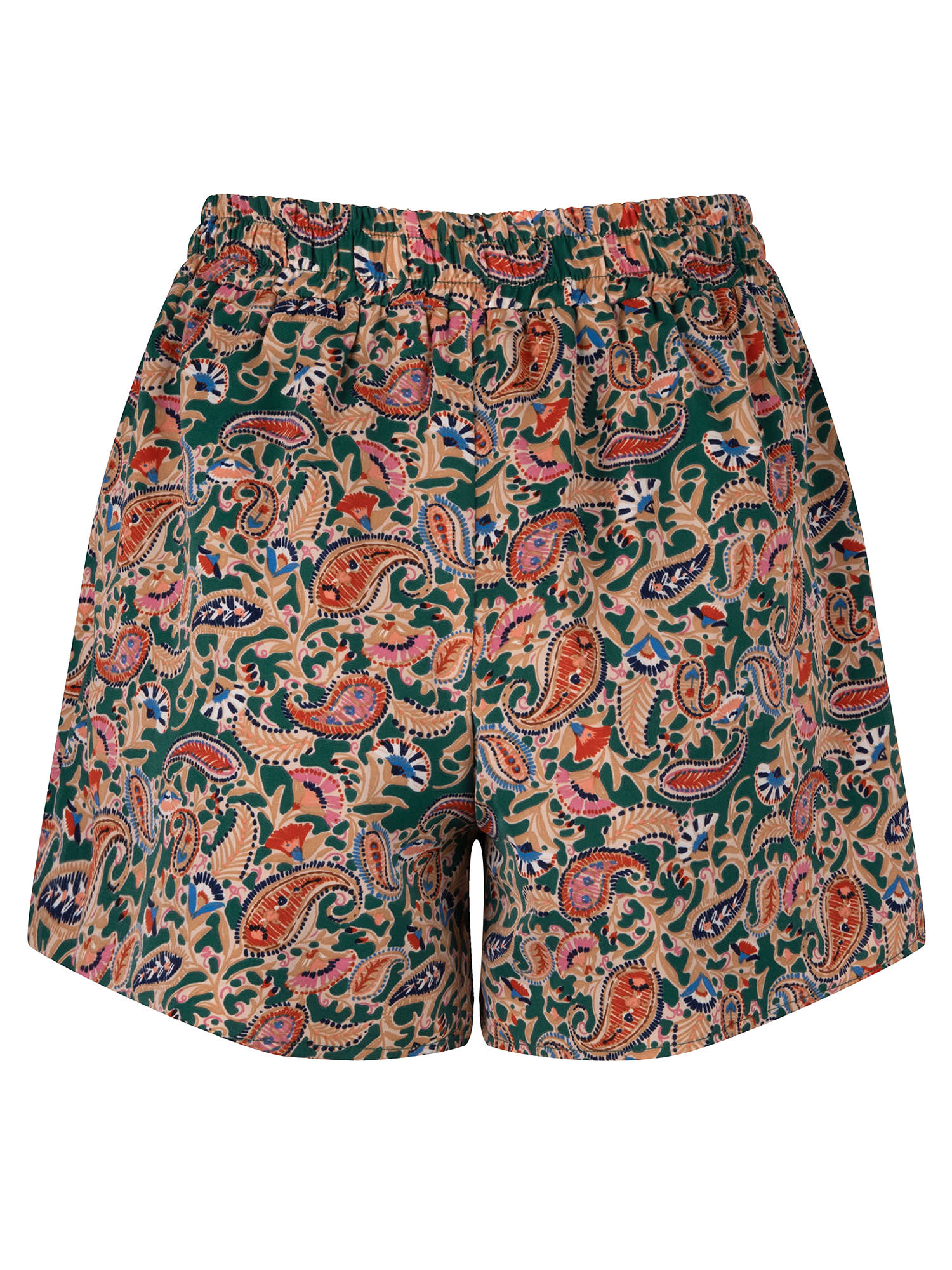 YDENCE YDENCE - Short layla groen paisley