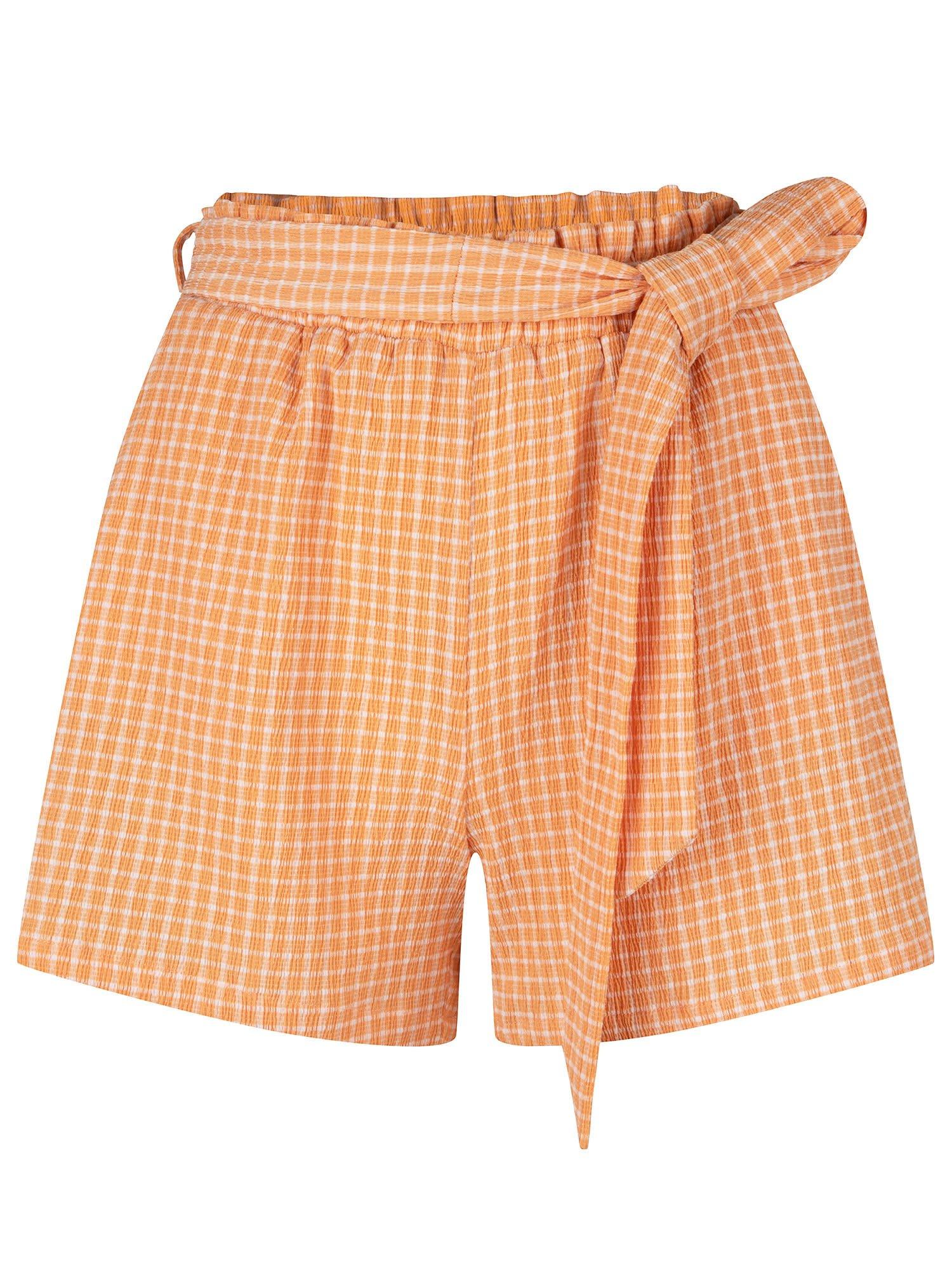 YDENCE YDENCE - Short rylee oranje check