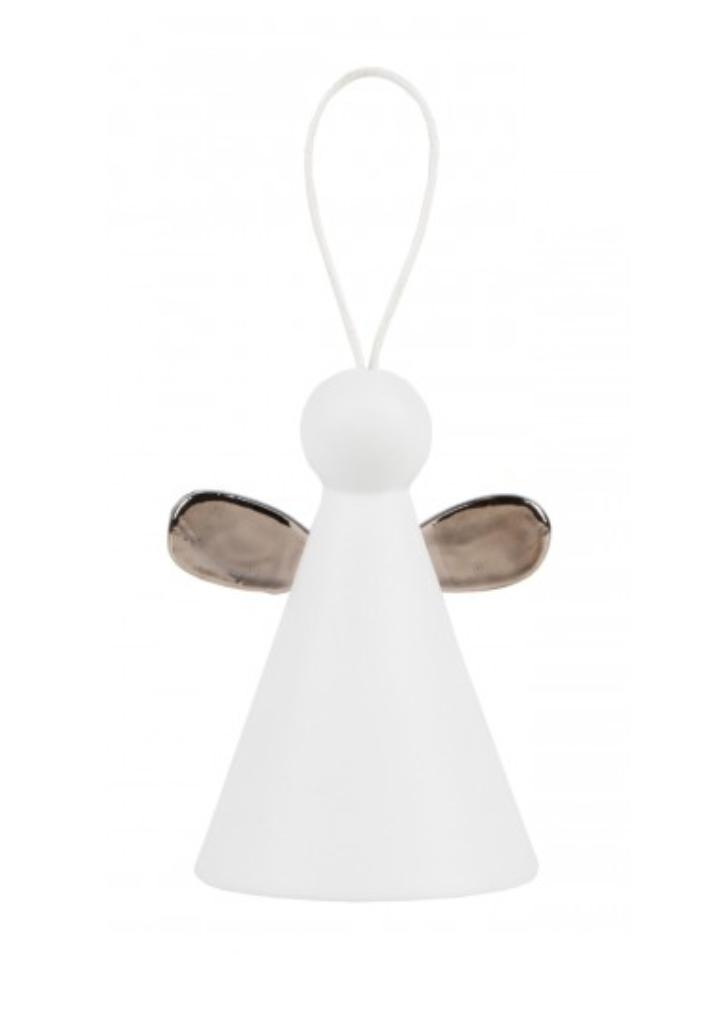 RÄDER DESIGN Stories RÄDER DESIGN - Bell Angel silver wings D:4,5cm H:6cm