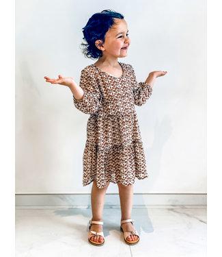 Pure Sense ALLIA'S BEIGE FLOWER DRESS