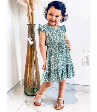 Pure Sense ALLIA'S GREEN FLOWER DRESS