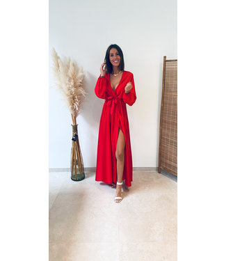 Pure Sense THE PERFECT GLOSSY DRESS RED-PRE ORDER