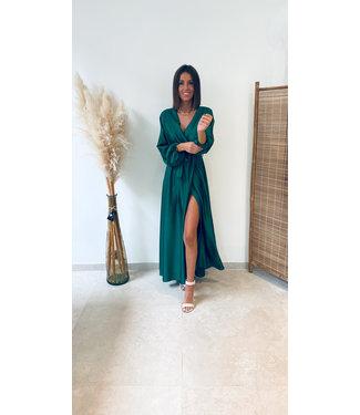 Pure Sense THE PERFECT GLOSSY DRESS GREEN- PRE ORDER