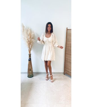 Pure Sense THE SHOW STOPPING DRESS BEIGE