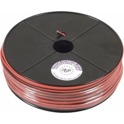VIDIZO Luidspreker kabel 2x 1.5mm2 16 AWG CCA 100M